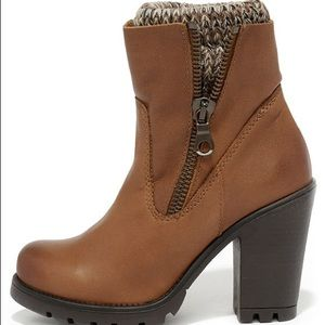 STEVE MADDEN SWEATER LEATHER HIGH HEEL BOOTS